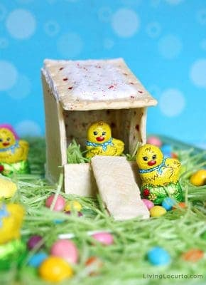 Pop Tarts Chicken Coop Dessert Board with Easter Egg Candy