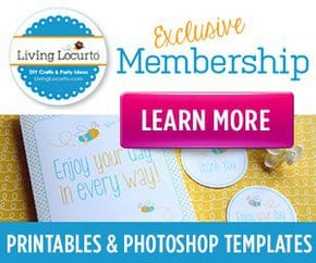 Exclusive Party Printable Designs and more from Amy at LivingLocurto.com!