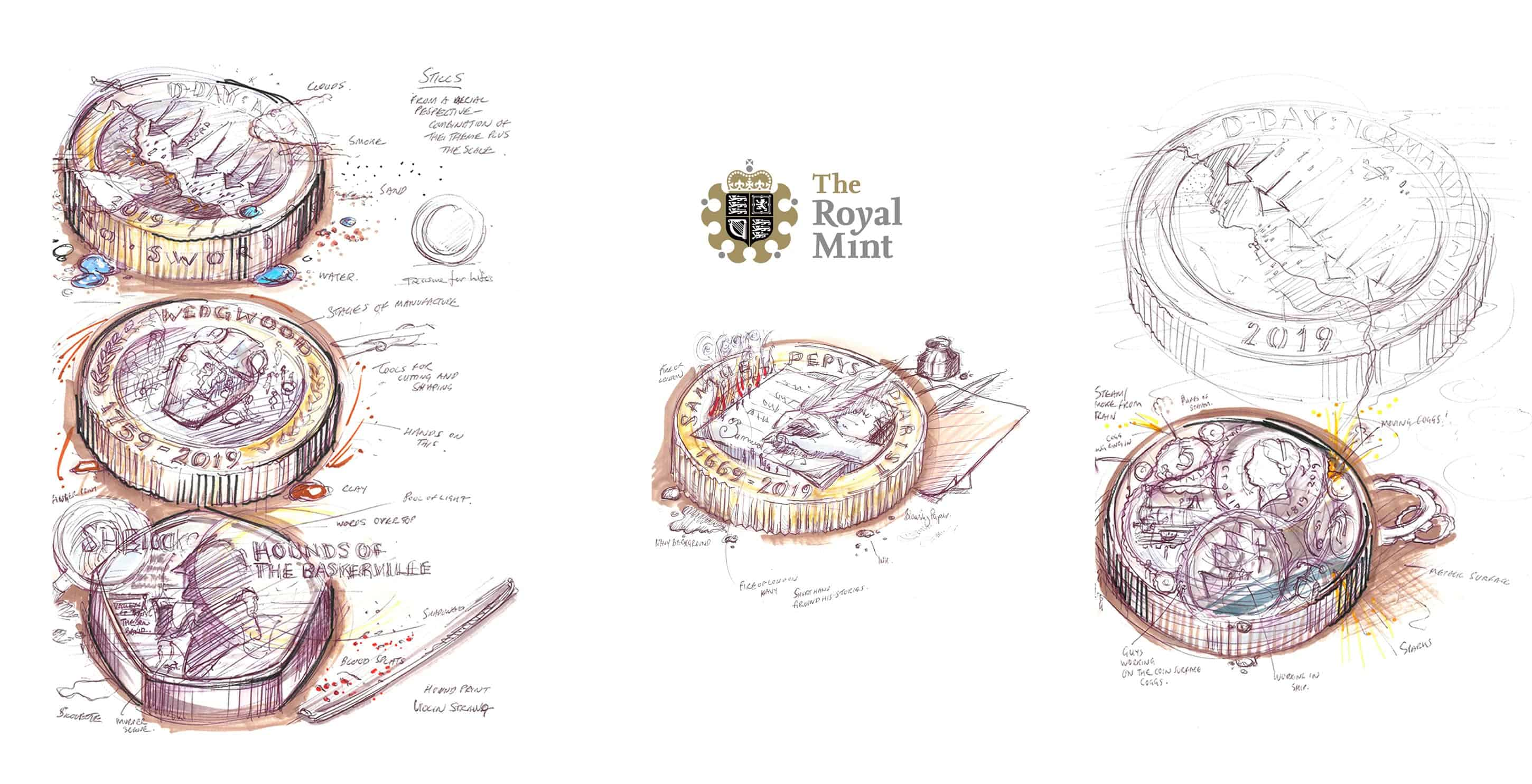 Monumental Stories in Miniature sketches