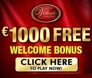 Villento Casino 50 free spins and 200% up to $1,000 free bonus