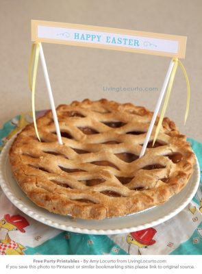 Free Party Printables for Easter - Pie Sign