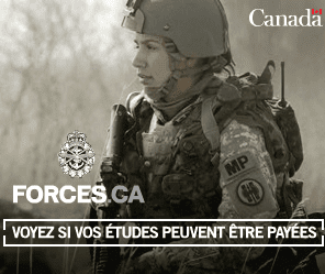 Jobs in the Canadian Armed Forces.