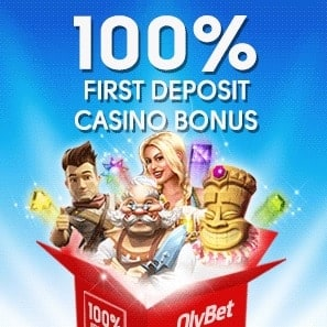 Olybet Casino 300 free spins and 100% up to €300 bonus gratis