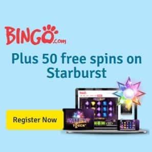 Bingo.com Casino Review: 50 free spins and 150% free bonus