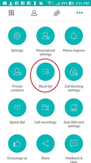android settings screen