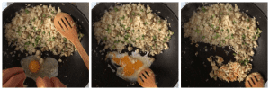 Cooking egg on the wok