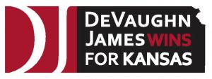DeVaughn James WINS for Kansas Logo