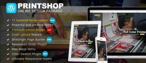WordPress Printshop theme