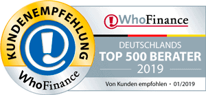 WhoFinance Deutschlands Top 500 Berater 2019