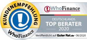 WhoFinance Deutschlands Top Berater 2020