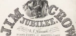 """Detail from 19th century printed matter entitled """"Jim Crow Jubilee"""""""