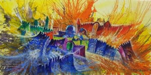 abstract jerusalem art