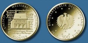 100 Euro Goldmuenze Kloster Lorsch