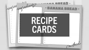 Free Printables Online Recipe Cards
