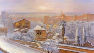 jerusalem at snow