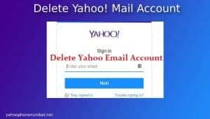 Delete Yahoo! mail account