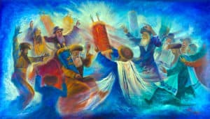 simchat torah painting