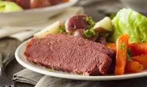 St Patrick's Day Traditions - Homemade Corned Beef and Cabbage with Carrots and Potatoes - The Irish Place
