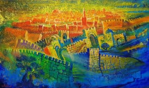 jerusalem abstract painting