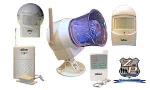 HomeSafe Outdoor Siren With Flashing Light Bundle Package