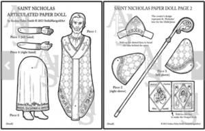 Saint Nicholas Articulated Paper Doll Download