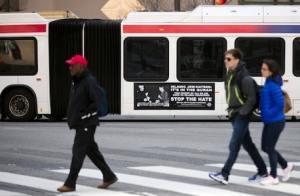 Photo of MTA political ad