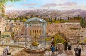 gold menorah in jerusalem