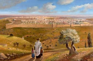 On the road to Jerusalem by Alex Levin