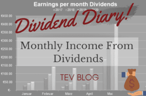 Dividend Diary - Monthly Income From Dividends