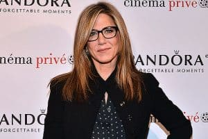 """WEST HOLLYWOOD, CA - NOVEMBER 23: Jennifer Aniston attends the cinema prive And PANDORA Jewelry Host A Special Screening Of """"Cake"""" on November 23, 2014 in West Hollywood, California. (Photo by Araya Diaz/Getty Images for cinema prive)"""