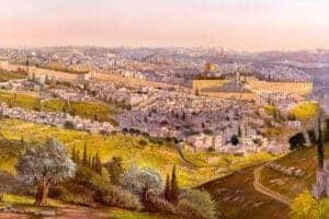 messiah painting jerusalem