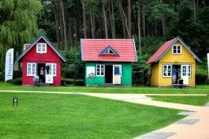 Cute little colorful houses Nida