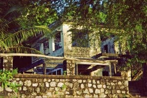 one of the deserted villas of Kep