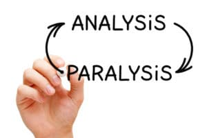 paralysis-by-analysis-can-be-remedied-by-failing-faster Analysis Paralysis Arrows Concept