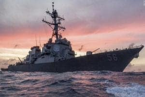 Russian vessel warns the USS John S McCain and claims it violated international marine law