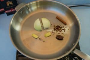 toasting keto pho spices
