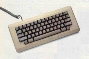 The Macintosh keyboard.