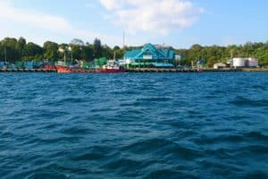View of Sorong Harbour from the Sea