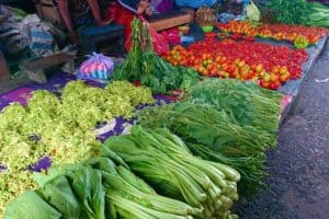 Vegetables sold at the Market