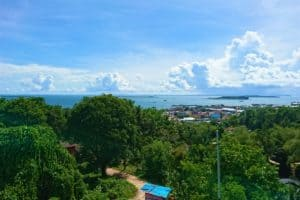 View of Islands, Ocean and Sorong Harbour