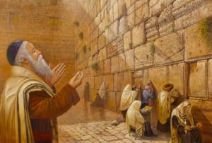 praying by the western wall