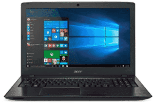 front view of Acer Aspire laptop