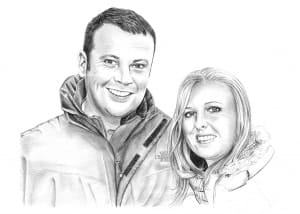 Pencil Portrait of Couple