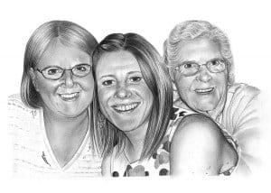 Pencil Portrait of a Family
