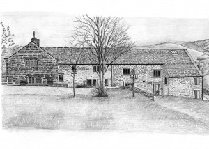 Pencil Drawing of a House