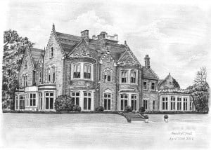 Pencil Drawing of Pendrell Hall