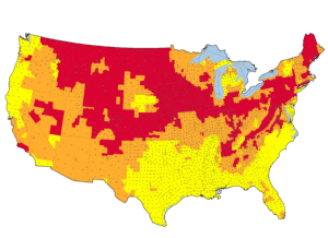 us radon map