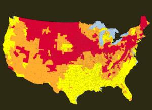 us radon map