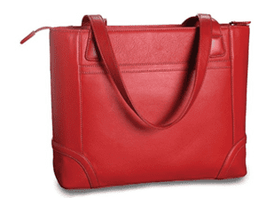 Red Leather Fortunata Tote from Levenger