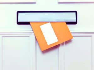 envelope in letterbox